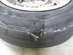Tires Are Critical To Safety Evidence Pics From A 2006 Prius Tire That Literally Wore Through The Steel Belts And Blew On San Francisco Bay Bridge Last